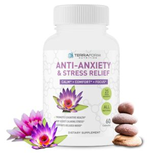Premium Anxiety and Stress Relief Supplement – 60 Capsules - TerraForm Nutrition-0