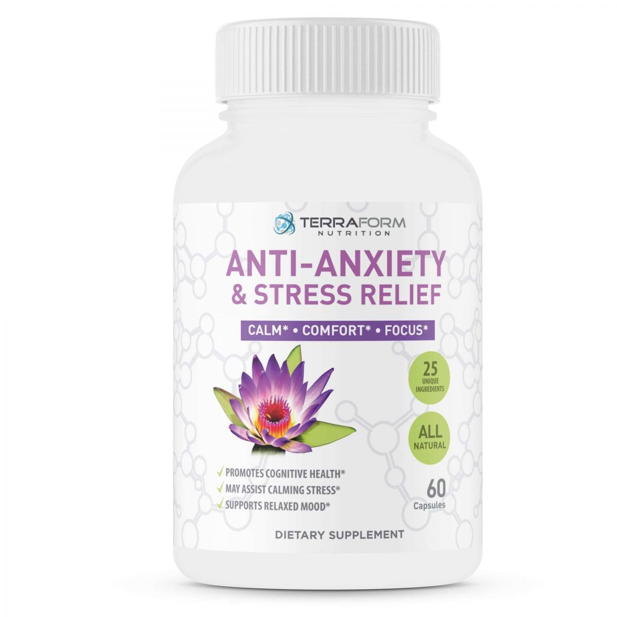 Premium Anxiety and Stress Relief Supplement – 60 Capsules - TerraForm Nutrition-3328