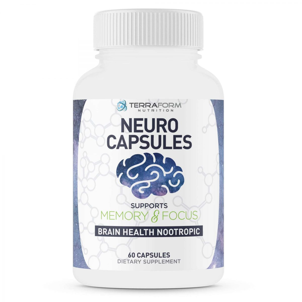Powerful Nootropics – Neuro Capsules - 60 Capsules - TerraForm Nutrition-0