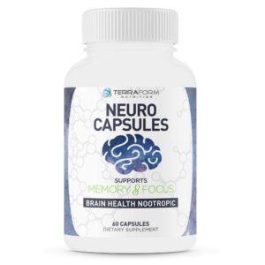 Powerful Nootropics – Neuro Capsules - 60 Capsules - TerraForm Nutrition-0