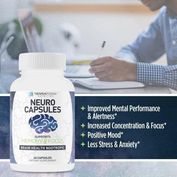 Powerful Nootropics – Neuro Capsules - 60 Capsules - TerraForm Nutrition-3341