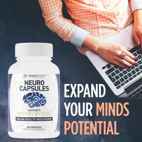 Powerful Nootropics – Neuro Capsules - 60 Capsules - TerraForm Nutrition-3340