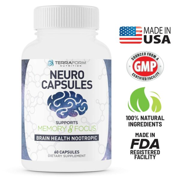 Powerful Nootropics – Neuro Capsules - 60 Capsules - TerraForm Nutrition-3337