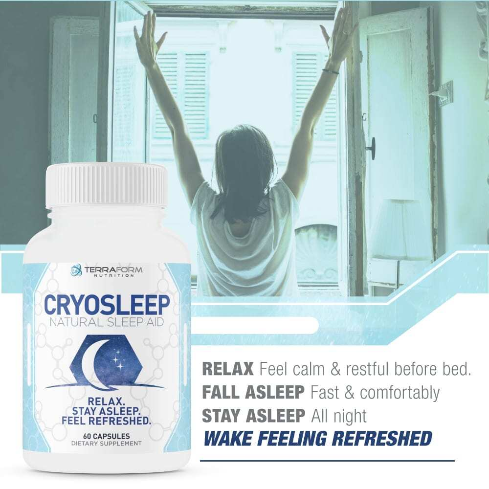 Natural Sleep Aid - Cryosleep – 60 Capsules - TerraForm Nutrition-3349