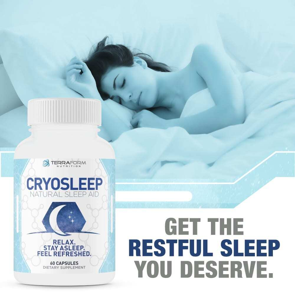 Natural Sleep Aid - Cryosleep – 60 Capsules - TerraForm Nutrition-3348