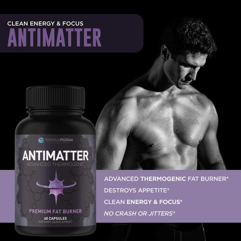 Premium Thermogenic Fat Burner - Antimatter - 60 Capsules - TerraForm Nutrition-3355