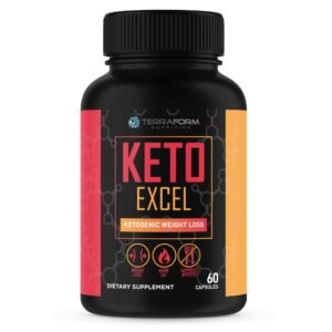 Keto Excel – Powerful Keto Diet Weight Loss Supplement – 60 Capsules - TerraForm Nutrition-0