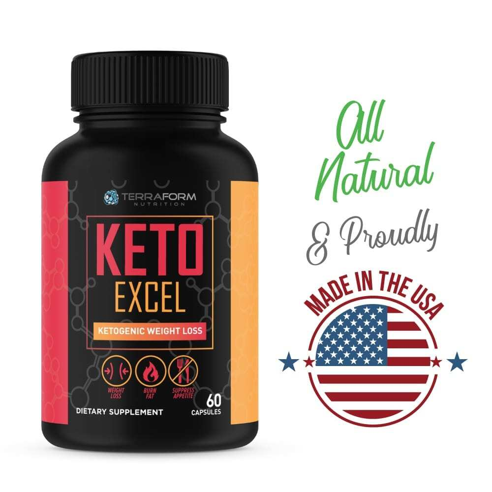 Keto Excel – Powerful Keto Diet Weight Loss Supplement – 60 Capsules - TerraForm Nutrition-3364