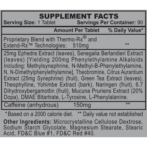 Stimerex-ES - Weight Loss and Energy Enhancement - Hi-Tech - 90 Tablets-3373