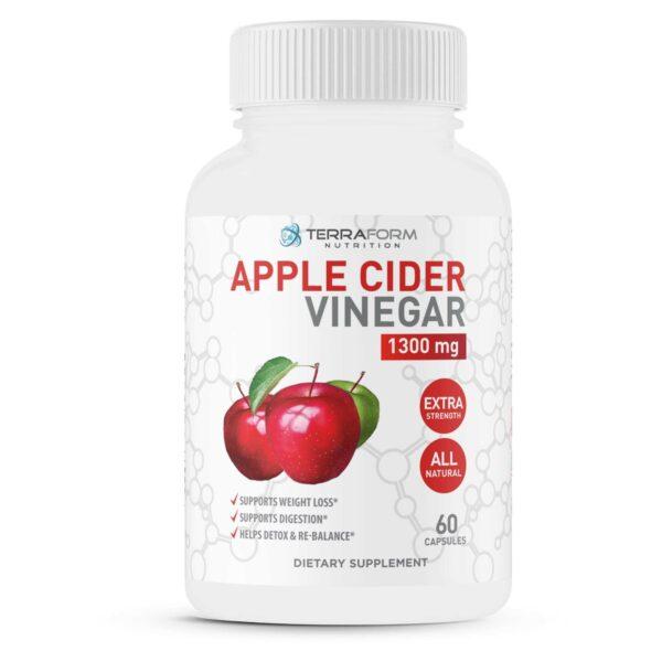 Apple Cider Vinegar 1300mg – 60 Capsules - TerraForm Nutrition-3724