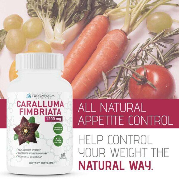 Caralluma Fimbriata – 1200mg Max Strength – 60 Capsules - TerraForm Nutrition-3405