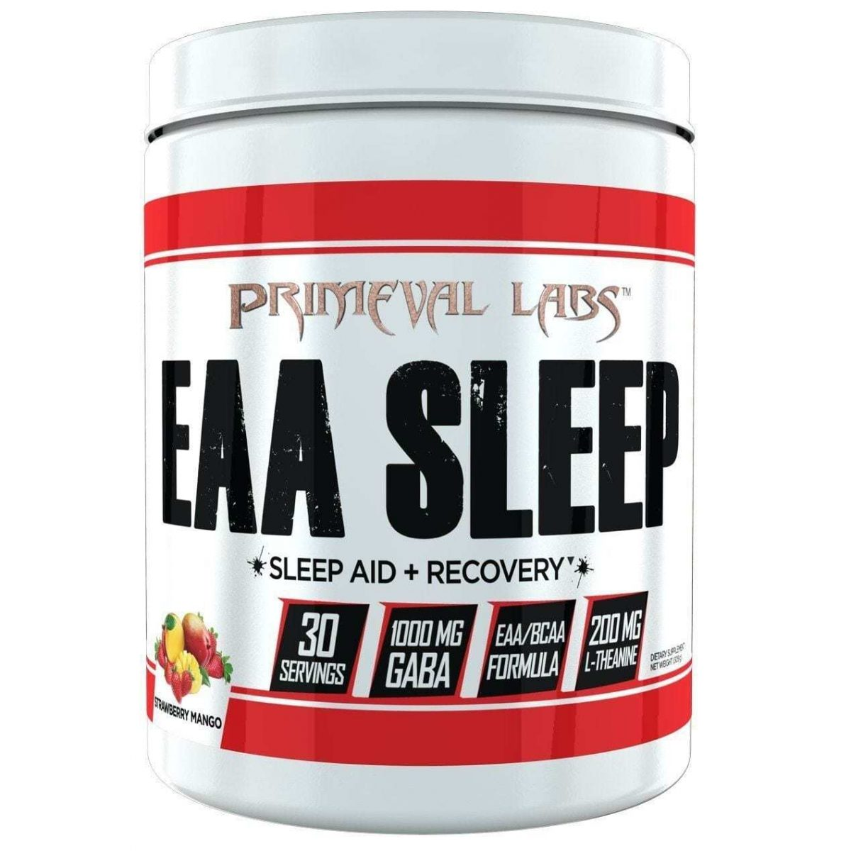 Primeval Labs EAA Sleep - Sleep Aid - Recovery - Strawberry Mango 30 Servings-0