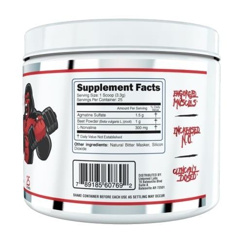 Untamed Labs Gorilla Pumps - Pre Workout - Unflavored - 25 Servings-3388