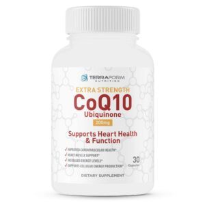 Extra Strength CoQ10 200mg – 30 Capsules - TerraForm Nutrition-0