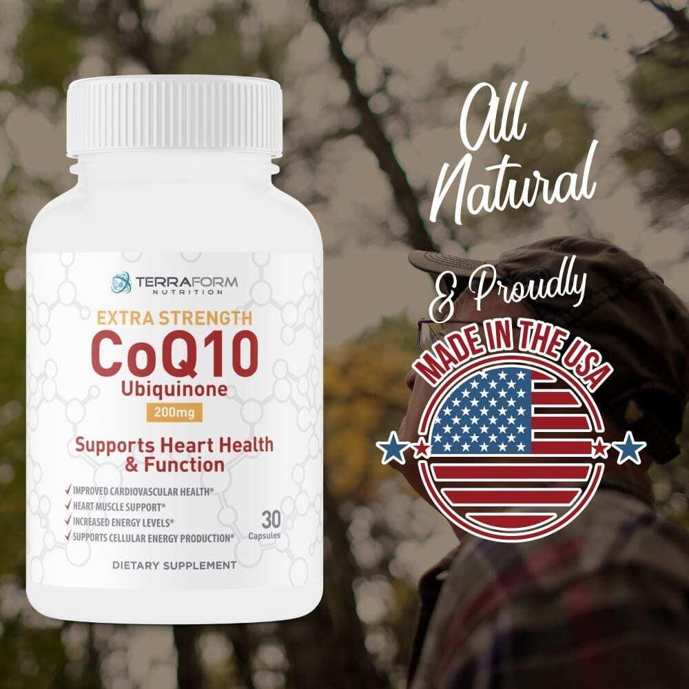 Extra Strength CoQ10 200mg – 30 Capsules - TerraForm Nutrition-3430