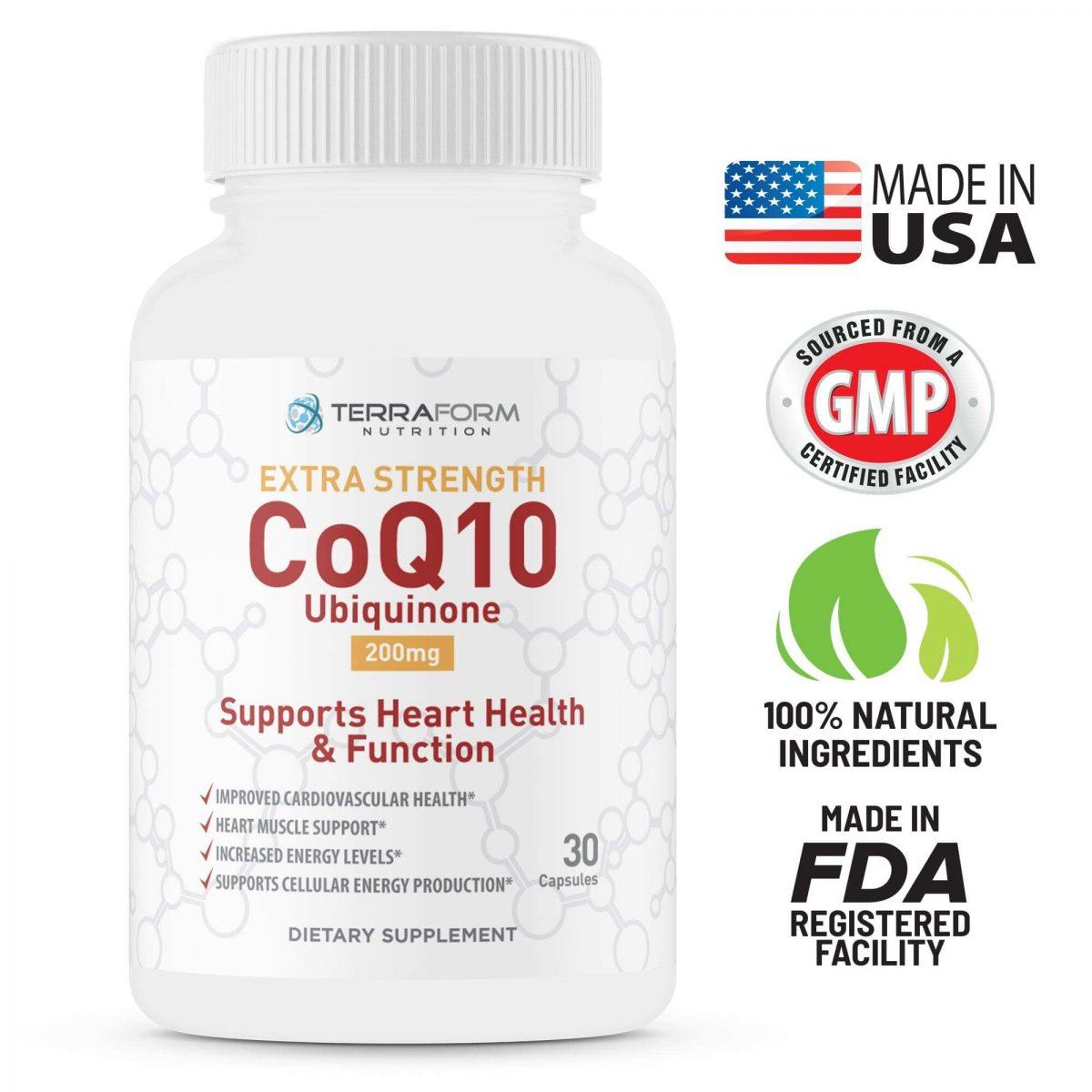 Extra Strength CoQ10 200mg – 30 Capsules - TerraForm Nutrition-3426