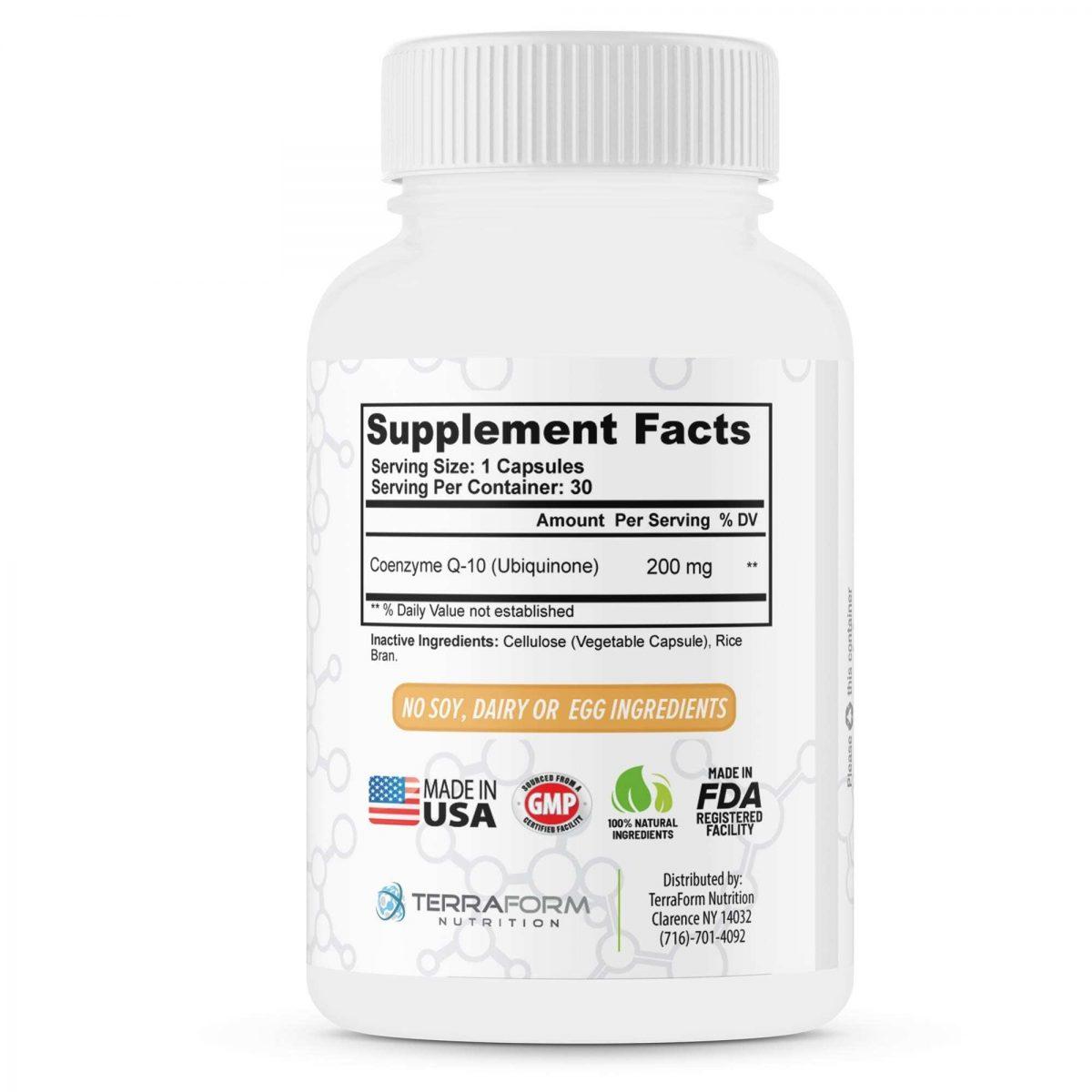 Extra Strength CoQ10 200mg – 30 Capsules - TerraForm Nutrition-3427
