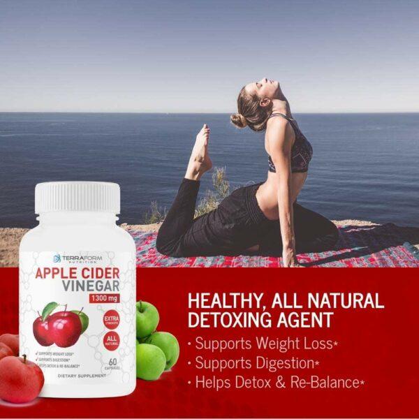Apple Cider Vinegar 1300mg – 60 Capsules - TerraForm Nutrition-3728