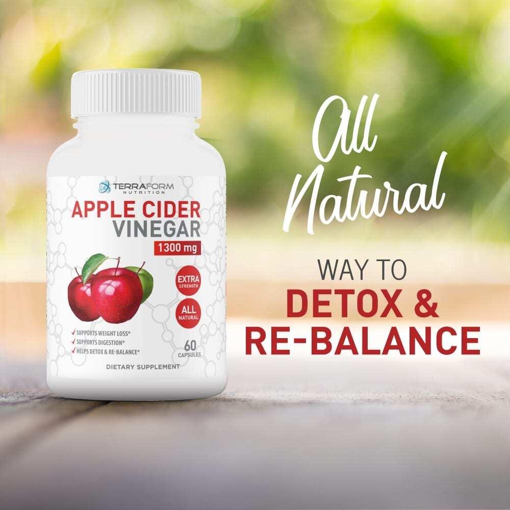 Apple Cider Vinegar 1300mg – 60 Capsules - TerraForm Nutrition-3729