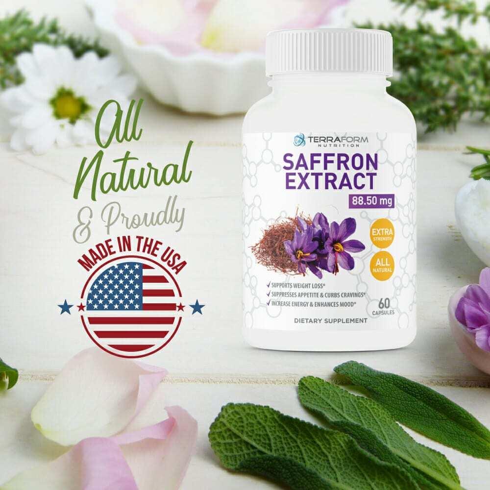 Pure Saffron Extract 88.5mg – 60 Capsules - TerraForm Nutrition-3411