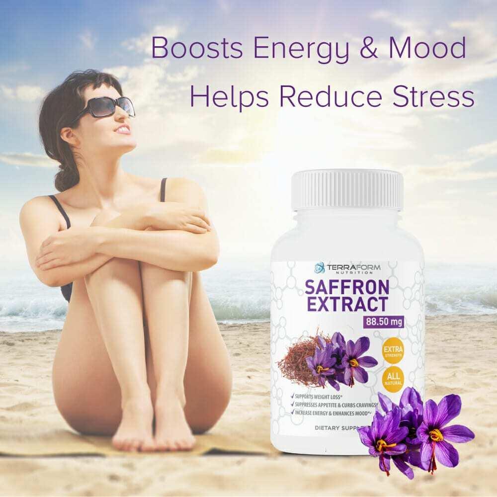 Pure Saffron Extract 88.5mg – 60 Capsules - TerraForm Nutrition-3412