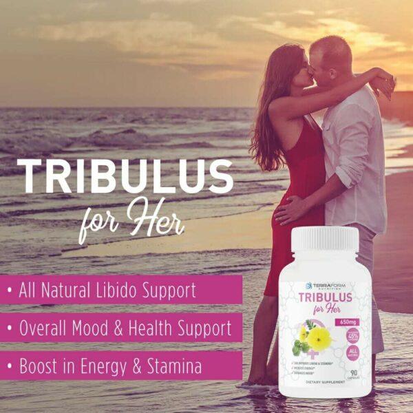 Tribulus Terrestris for Women – 650mg – 90 Capsules - Terraform Nutrition-3416