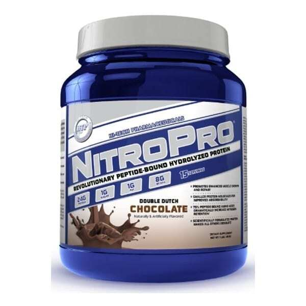NitroPro Hydrolyzed Whey Protein - Double Dutch Chocolate - 1 Lb - High-Tech-0
