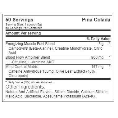 The Curse - Pre Workout - Pina Colada - Cobra Labs - 50 Servings-3488