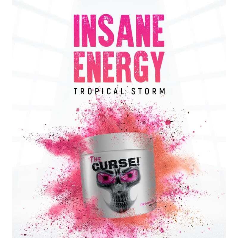 The Curse - Pre Workout - Tropical Storm - Cobra Labs - 50 Servings-3482