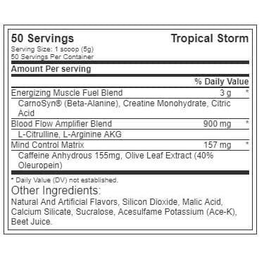 The Curse - Pre Workout - Tropical Storm - Cobra Labs - 50 Servings-3484