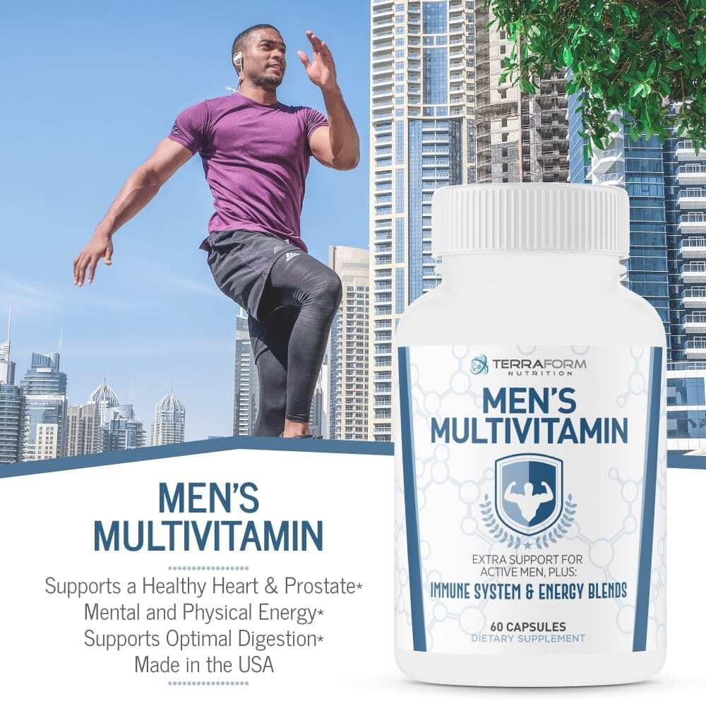 Men's Multivitamin – Daily Support for Men's Nutritional Needs – 60 Capsules-3540