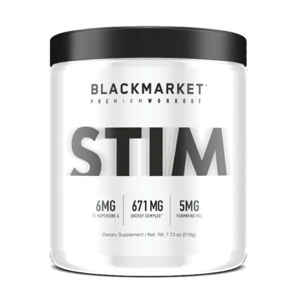 Stim - Pre Workout - Tropical Punch - 30 Servings By Blackmarket Labs-0