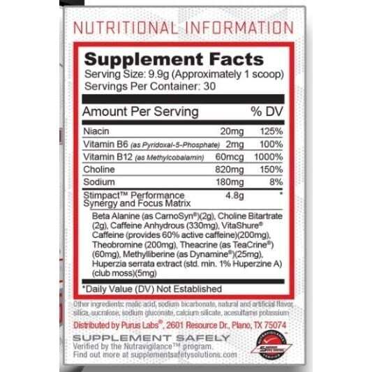 Stimpact - Smooth Tropical Breeze - 30 Servings by Purus Labs-3531