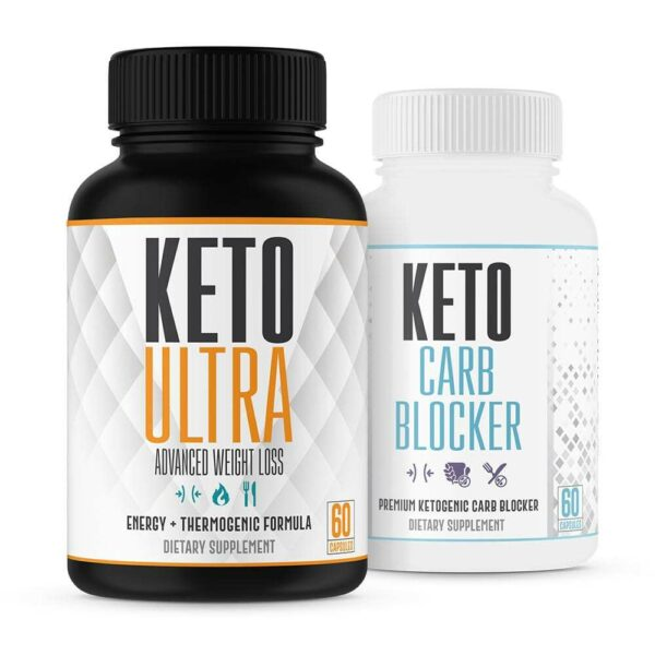 Ultimate Keto Stack - Keto Ultra Weight Loss & Carb Blocking Combo - 30 Day Supply-0