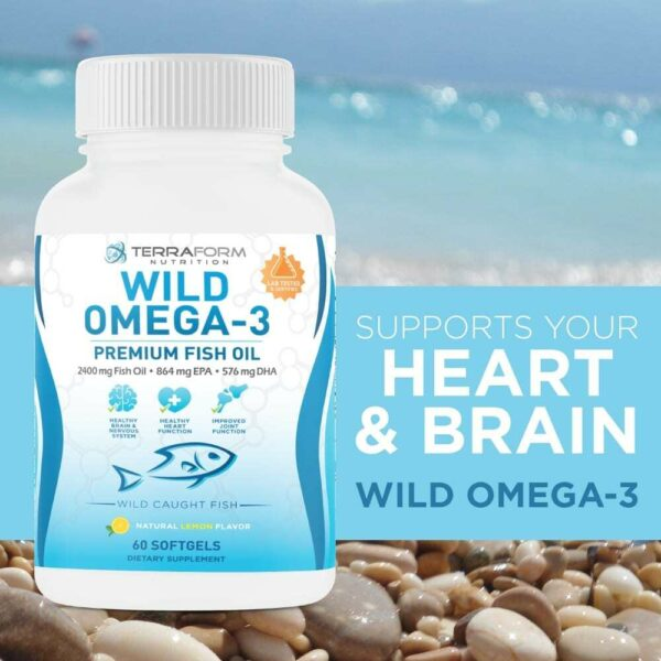 Wild Omega 3 Fish Oil 2400mg - 60 Capsules-3631
