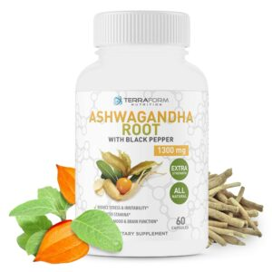 Pure Ashwagandha Root with Black Pepper – 1300mg – 1 Month Supply-0