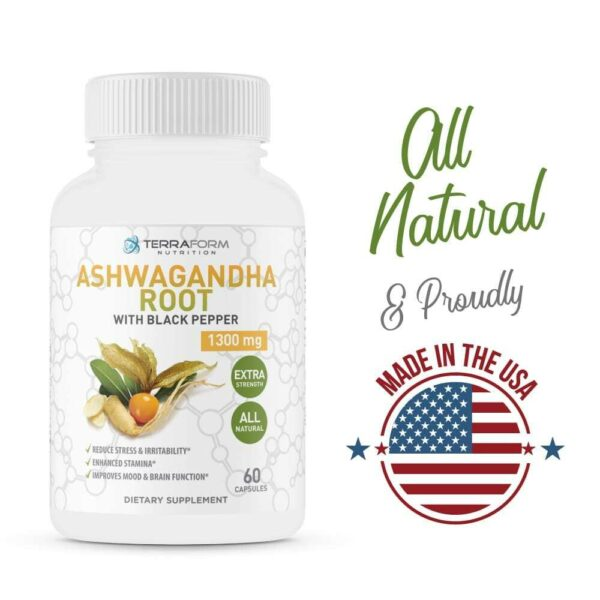 Pure Ashwagandha Root with Black Pepper – 1300mg – 1 Month Supply-3648