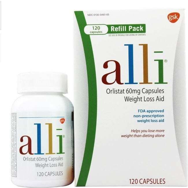 Alli Weight Loss Aid Refill 60mg - 120 Capsules-0
