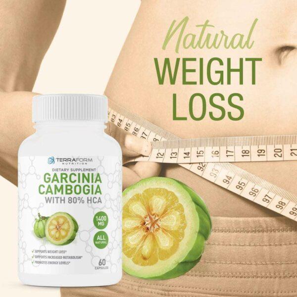 100% Pure Garcinia Cambogia Extract – 80% Natural HCA 1400mg – 60 Capsules-3674