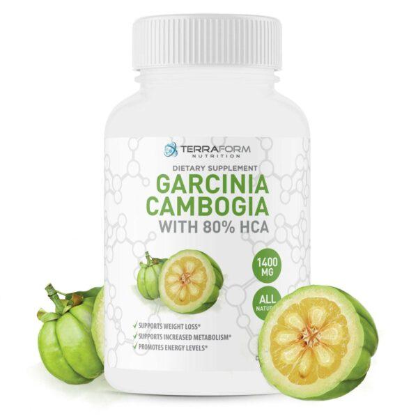 100% Pure Garcinia Cambogia Extract – 80% Natural HCA 1400mg – 60 Capsules-3676