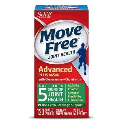 Move Free Advanced Plus MSM with Glucosamine & Chondroitin - 20 Count - By Schiff-0