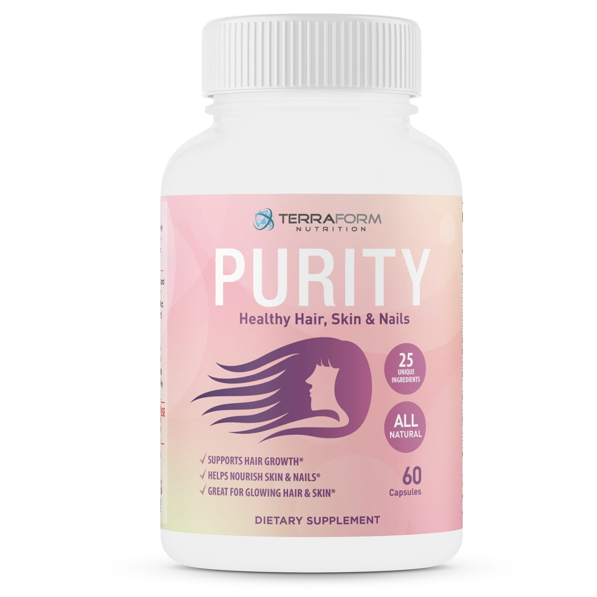 Purity - Hair Skin & Nail Vitamins – Supports Hair Growth for Women ...