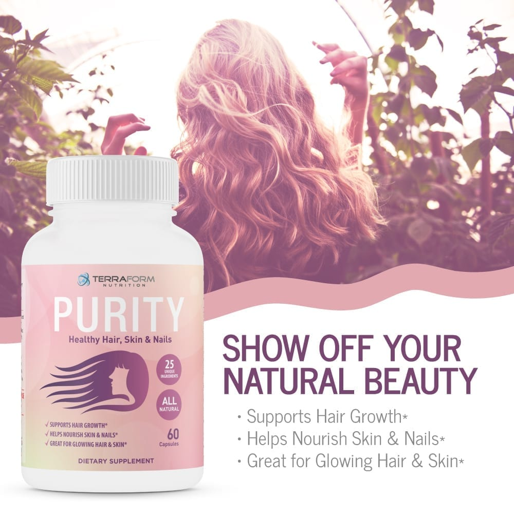 Purity - Hair Skin & Nail Vitamins – Supports Hair Growth for Women, Nourishes Skin & Nails-3749