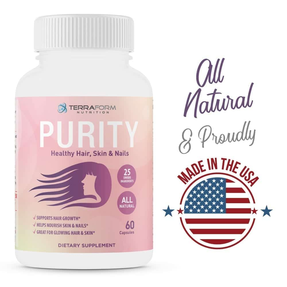 Purity - Hair Skin & Nail Vitamins – Supports Hair Growth for Women, Nourishes Skin & Nails-3750