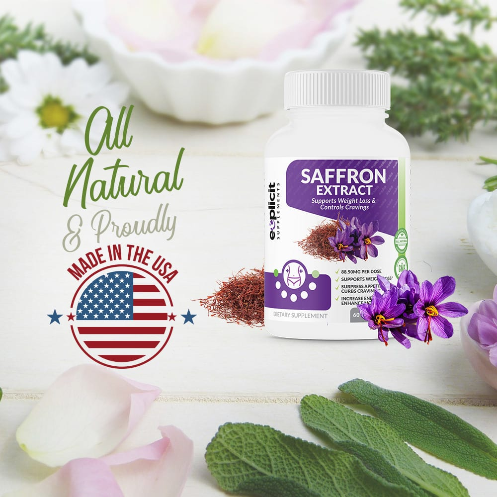 Saffron Extract 88 5mg Of Pure Saffron Usa Made 60 Capsules
